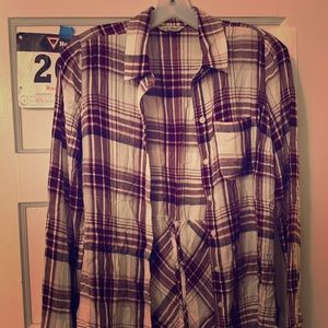 Lucky brand plaid shirt with cute back
